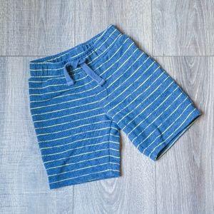 Blue & Yellow Striped Drawstring U-Shaped Short